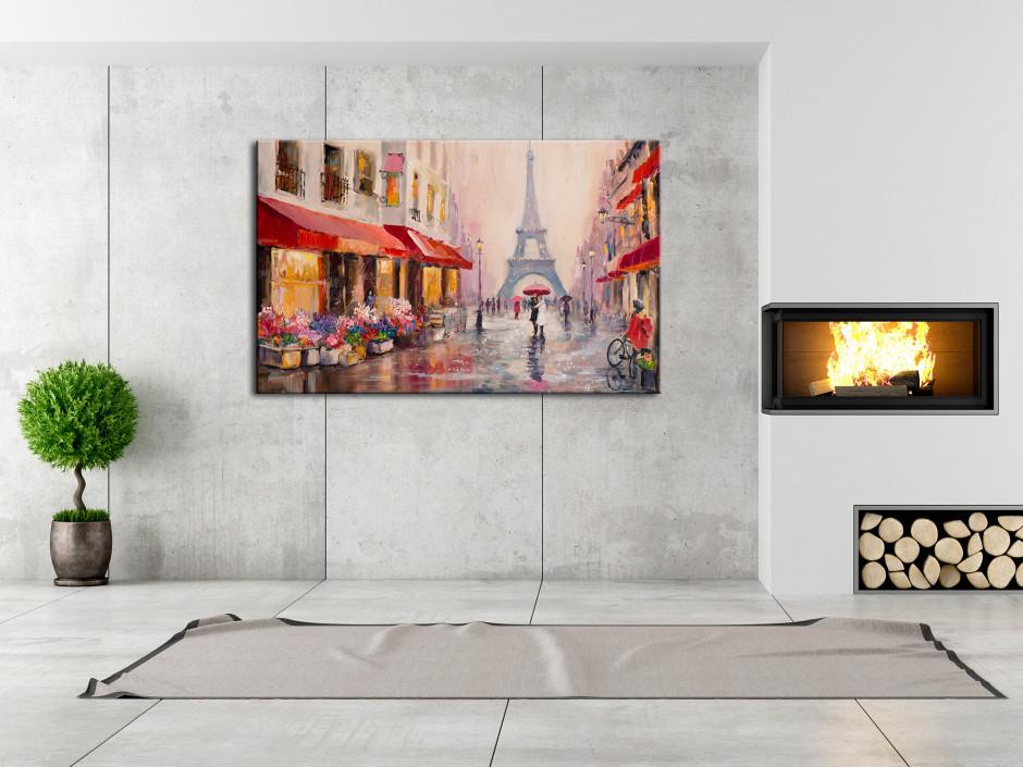 Tableau peinture sur toile Rue de Paris