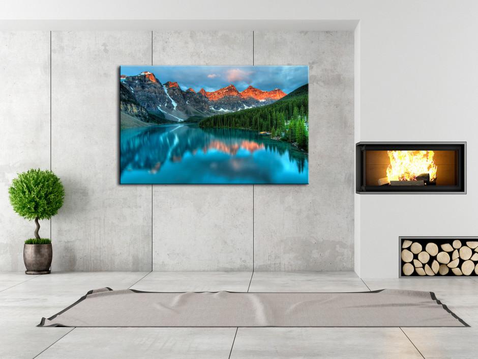Tableau toile paysage LAC MORAINE