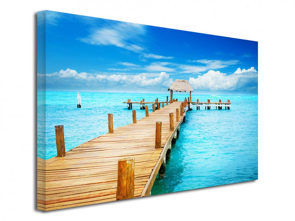 Tableau toile décoration paysage des Caraïbes