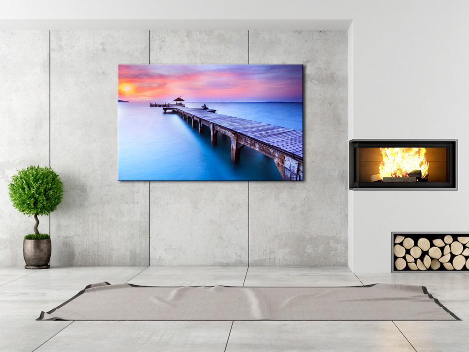 Tableau toile paysage photo d'une Jetée