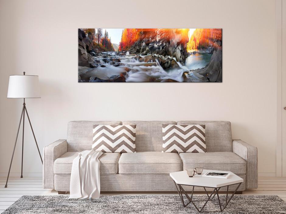 Tableau panoramique RIVIERE D'AUTOMNE