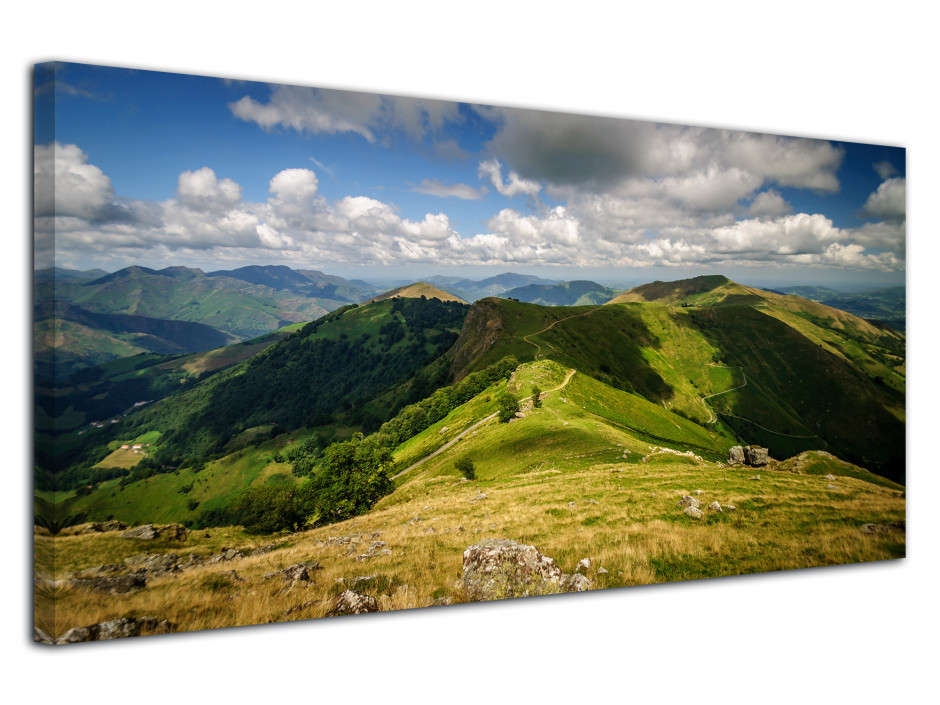 Tableau photo deco panorama des MONTAGNES BASQUE