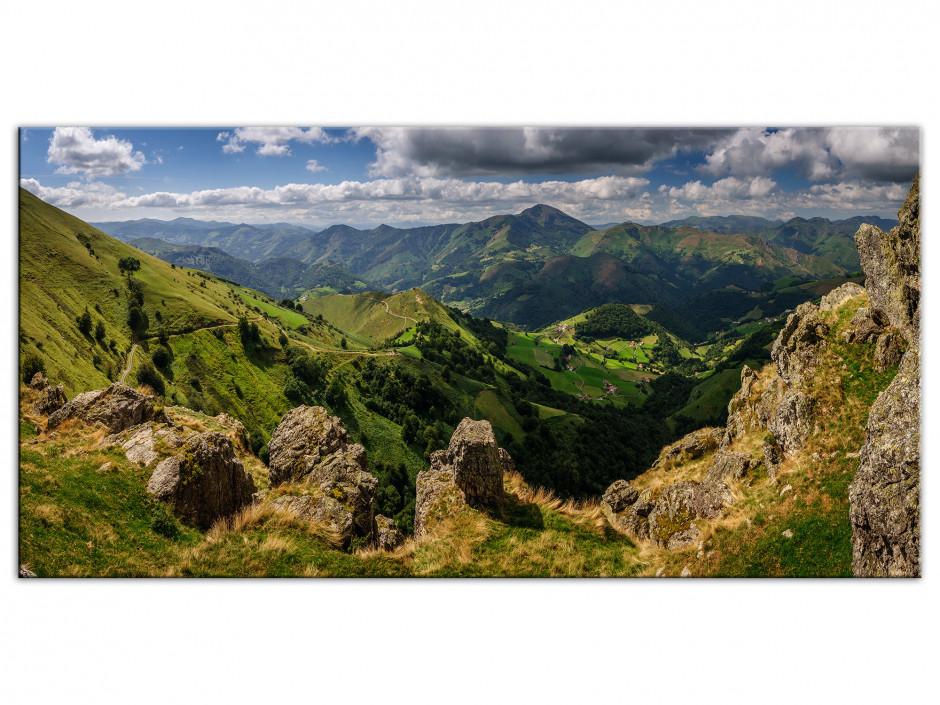Tableau toile panorama Vallée de Baïgorry