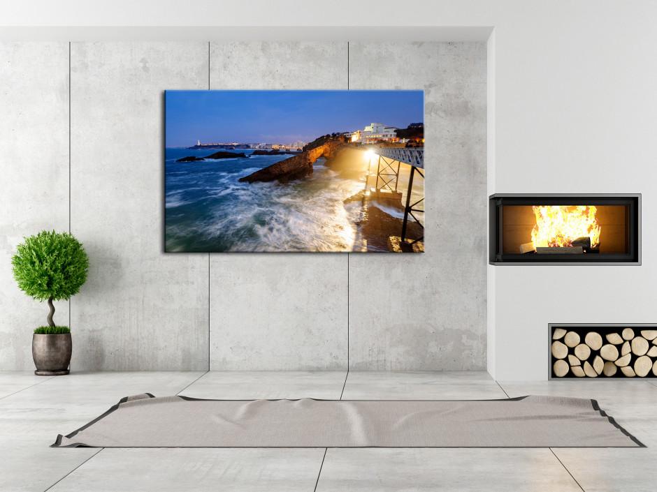 Tableau photo paysage ROCHER DE LA VIERGE BIARRITZ