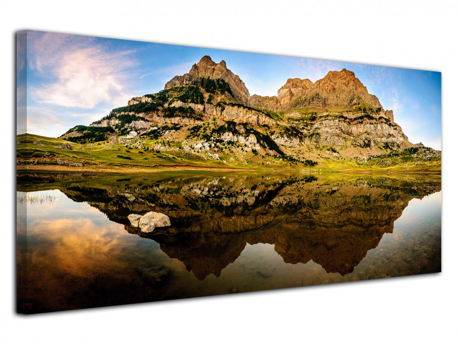 Tableau photo panoramique LAC DE PIEDRAFITA