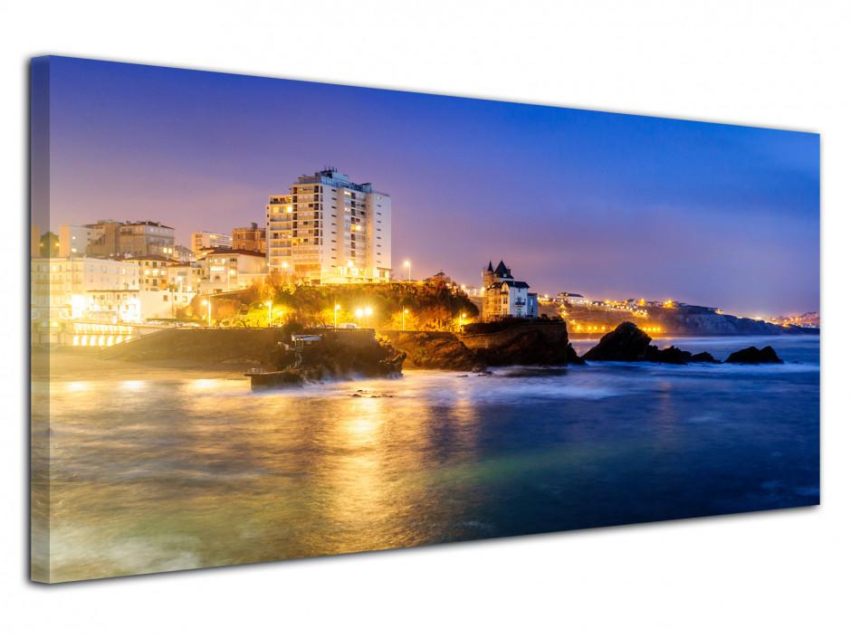 Tableau deco panoramique PLAGE DE BIARRITZ
