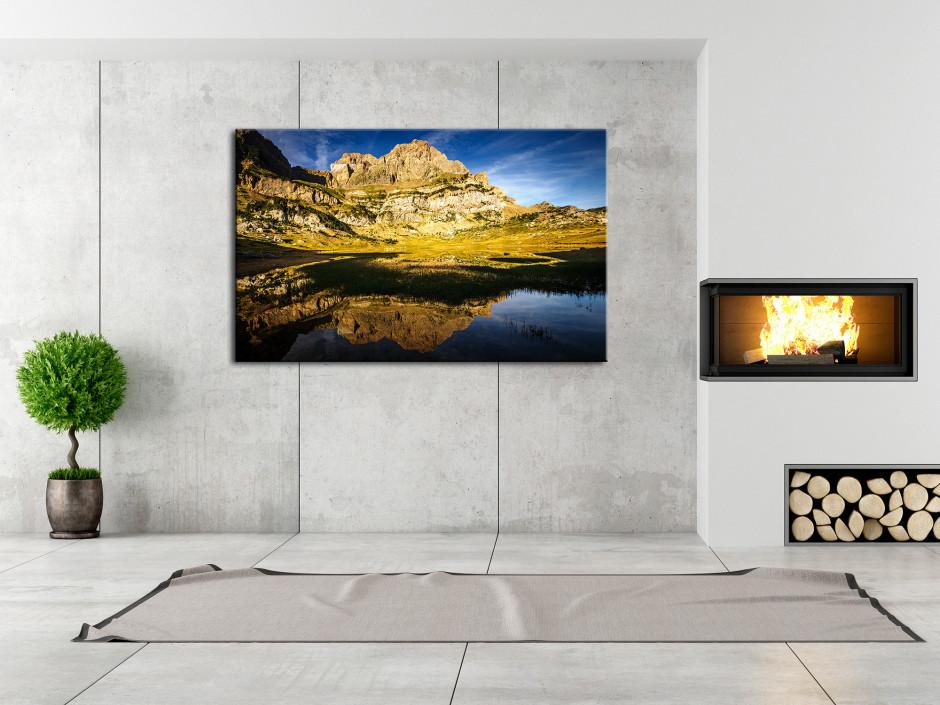 Tableau toile paysage LAC DE PIEDRAFITA