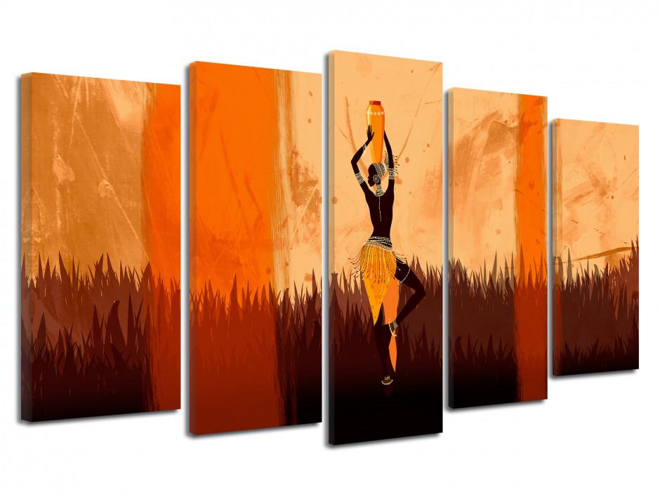 Tableau toile deco design Africain