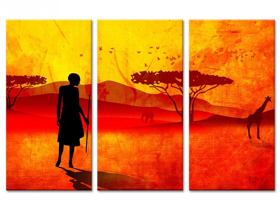 Tableau toile deco paysage Africain