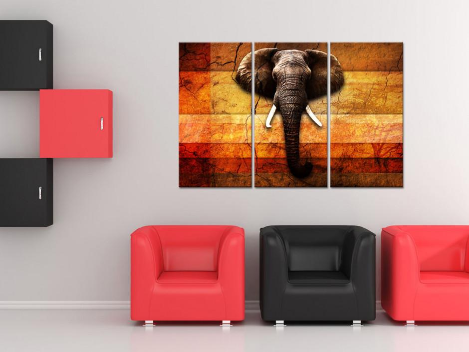 Tableau deco triptyque Elephant