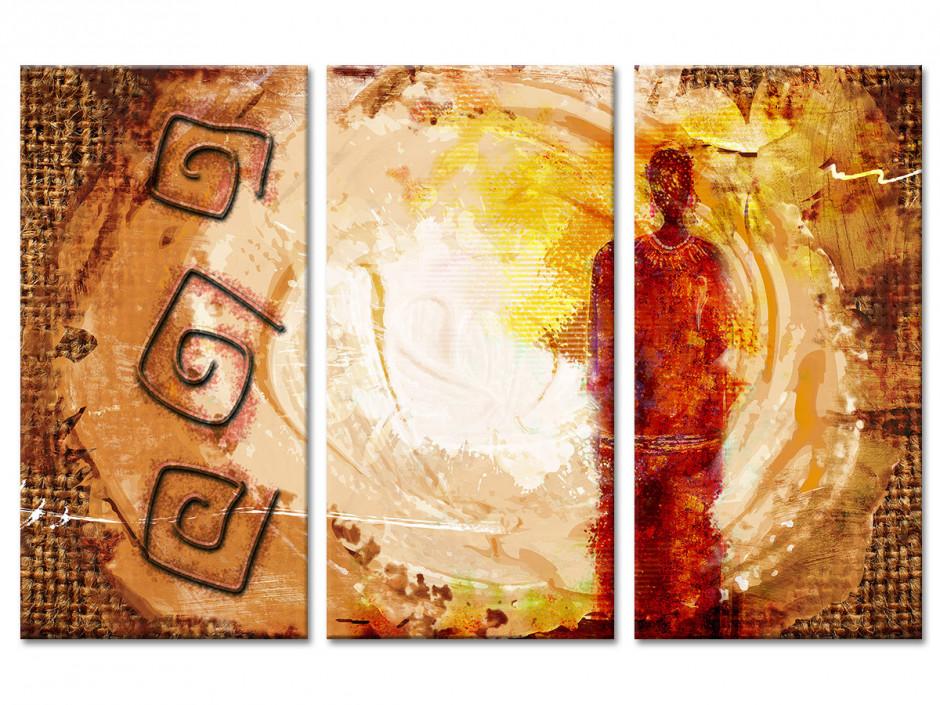 Tableau toile deco design Ethnique