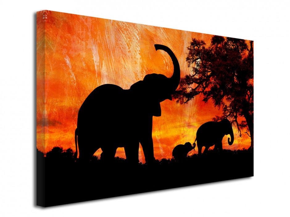 Tableau Paysages Africain Les Eléphants