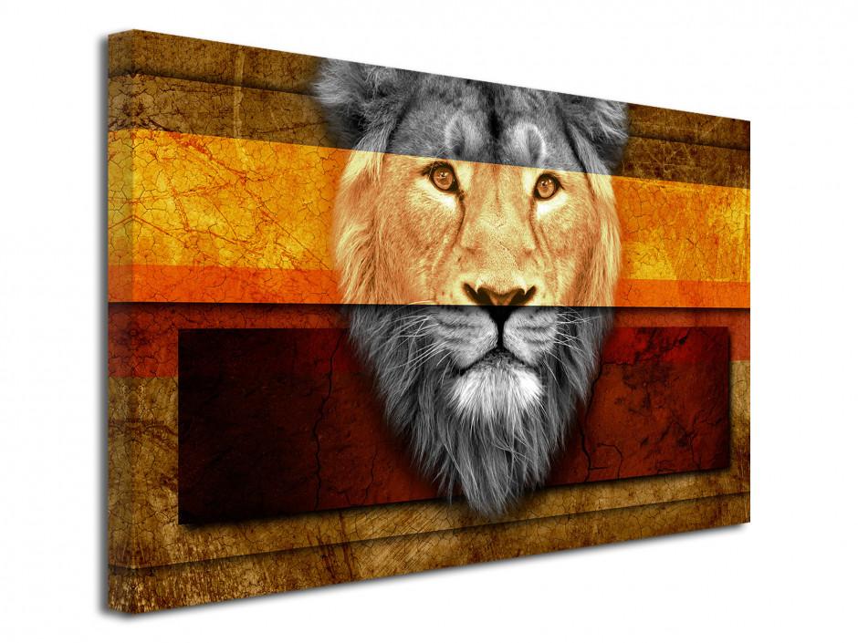 Tableau décoratif Ethnique tête de Lion