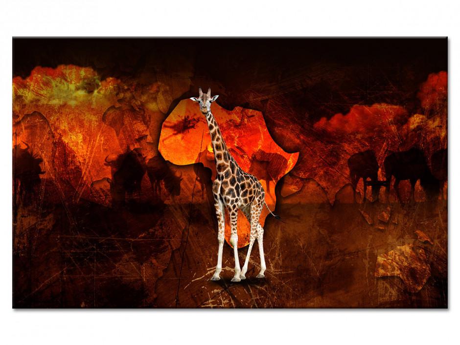 Tableau deco toile La Girafe