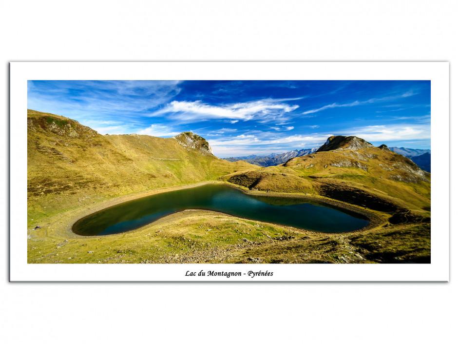 Tableau toile deco lac du montagnon