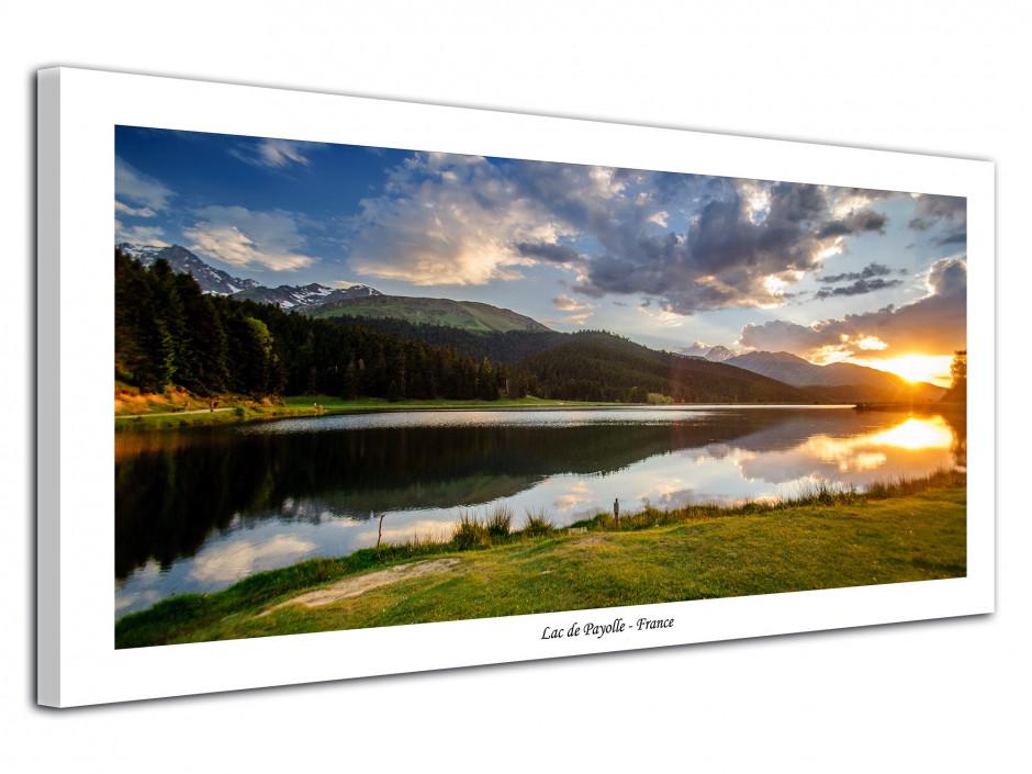 Tableau de paysage de montagne Lac de Payolle