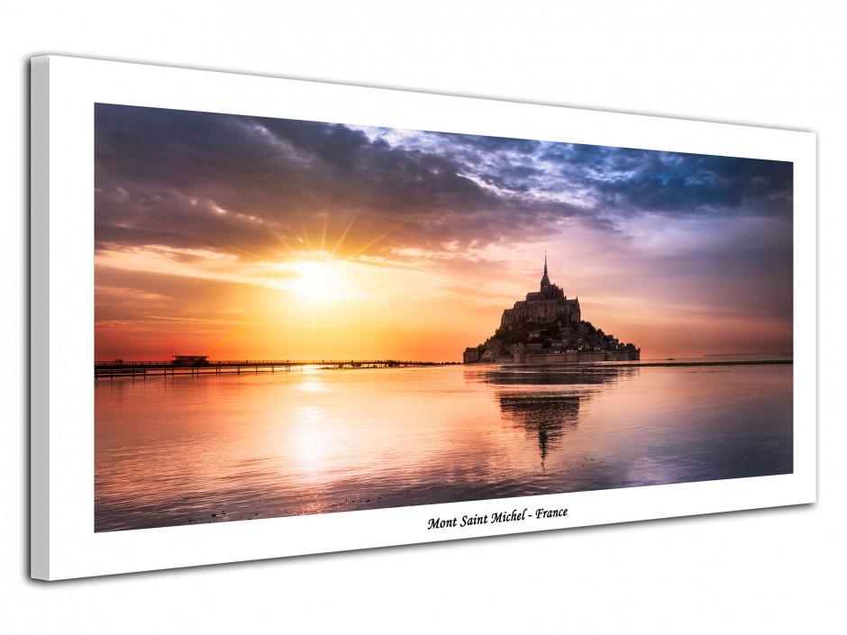 Tableau photo Coucher de Soleil sur le Mont Saint Michel