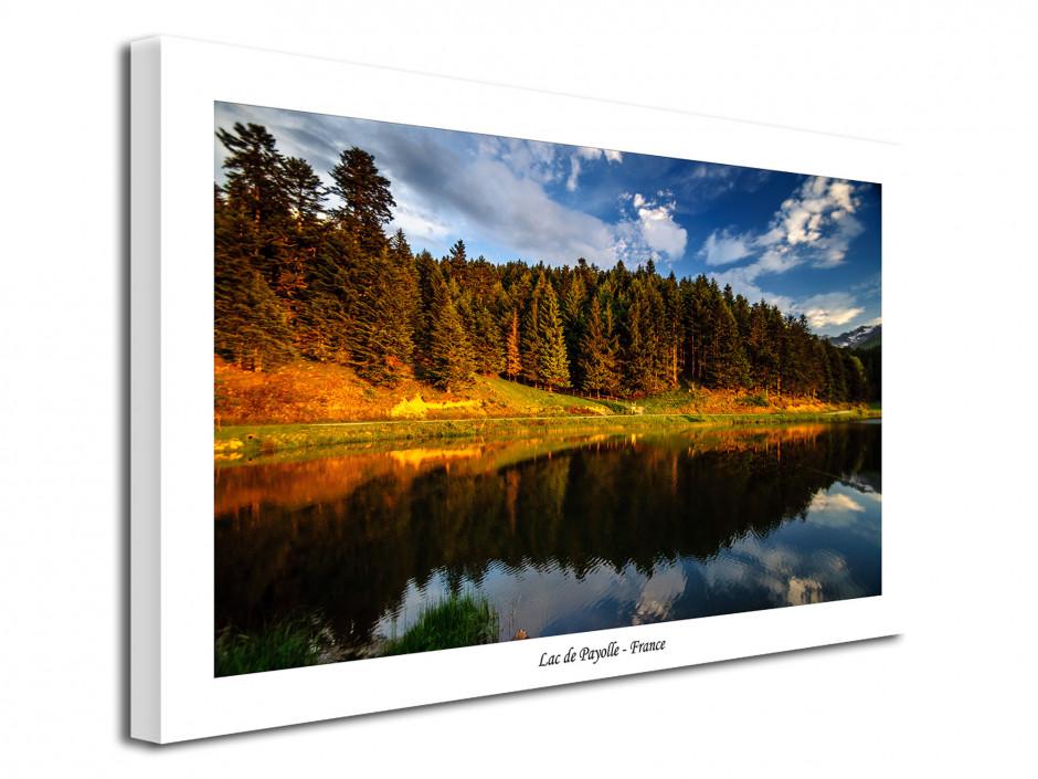 Tableau deco moderne paysage lac de Payolle