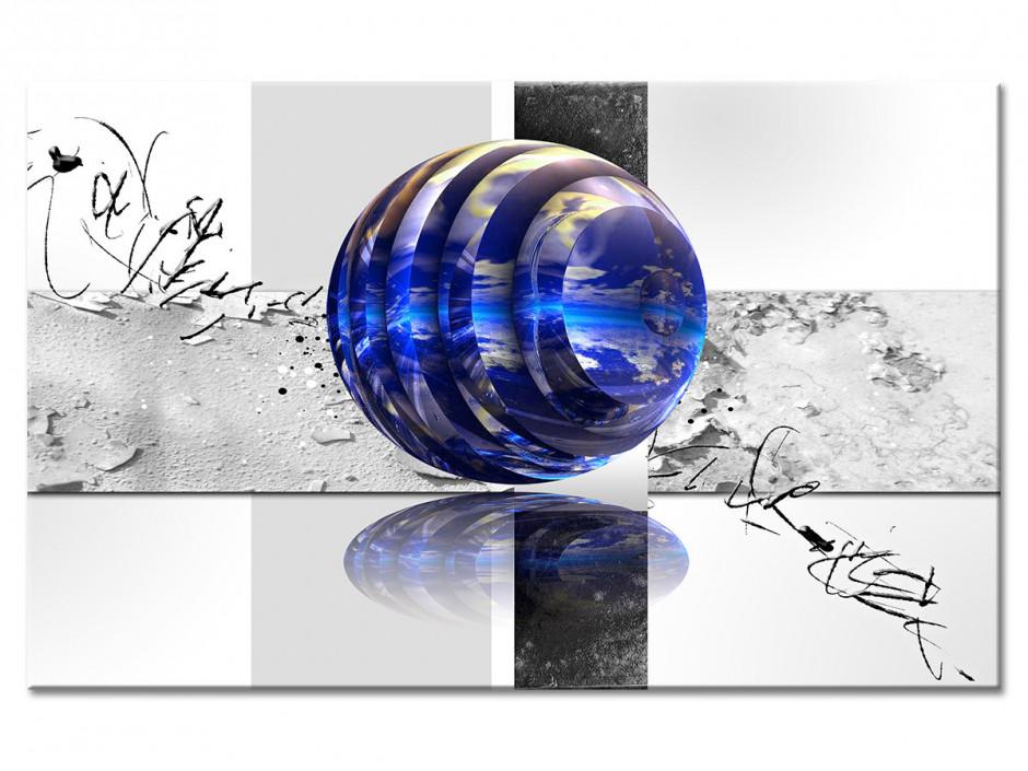 Tableau aluminium déco abstraite BILLE
