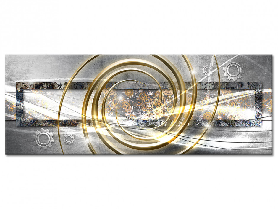 Tableau aluminium abstrait ROUAGES ET SPIRALES
