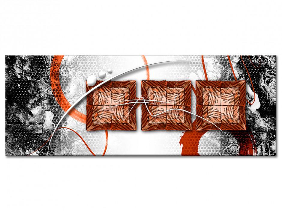 Tableau aluminium moderne deco abstraite TROIS CARRÉS