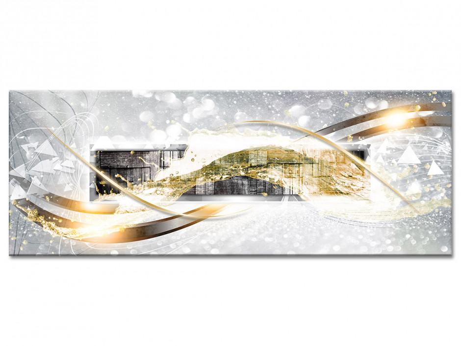 Tableau aluminium décoration abstraite BOIS