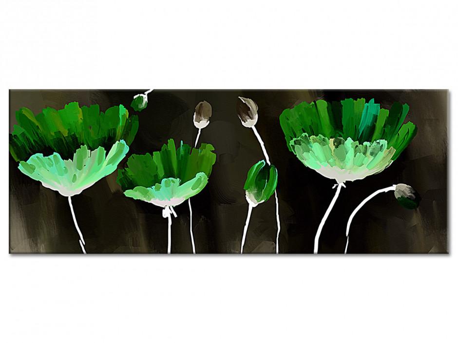 Tableau aluminium fleurs PEINTURE ABSTRAITE