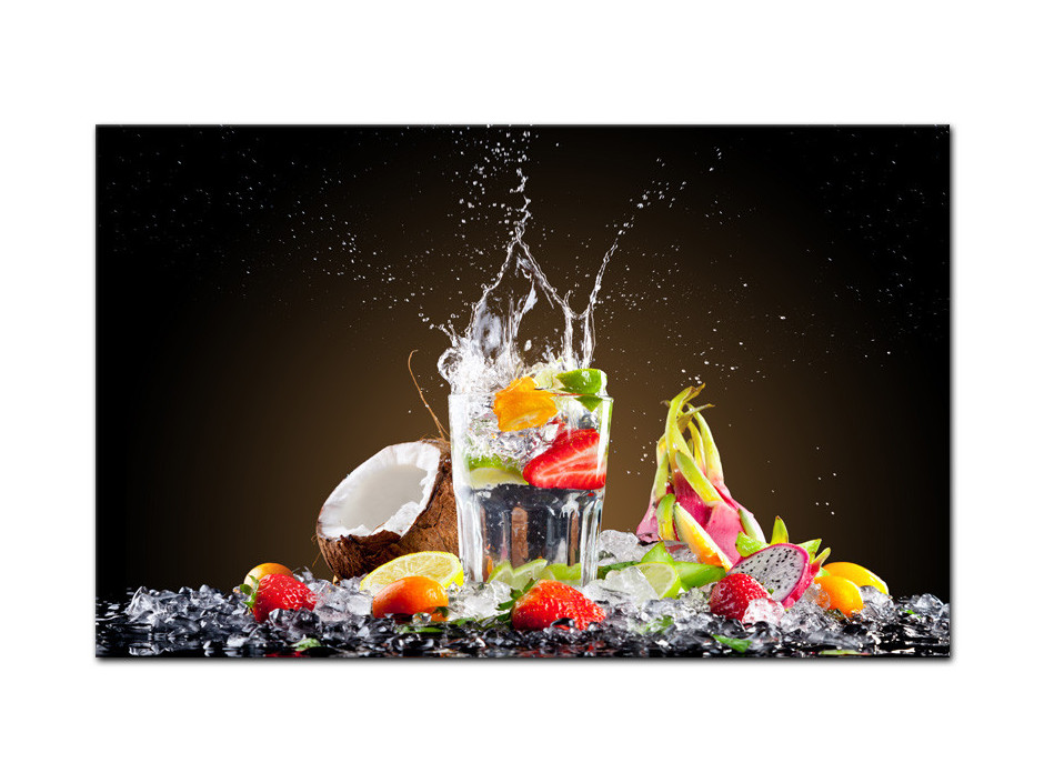 Tableau aluminium cuisine Cocktail de Fruits
