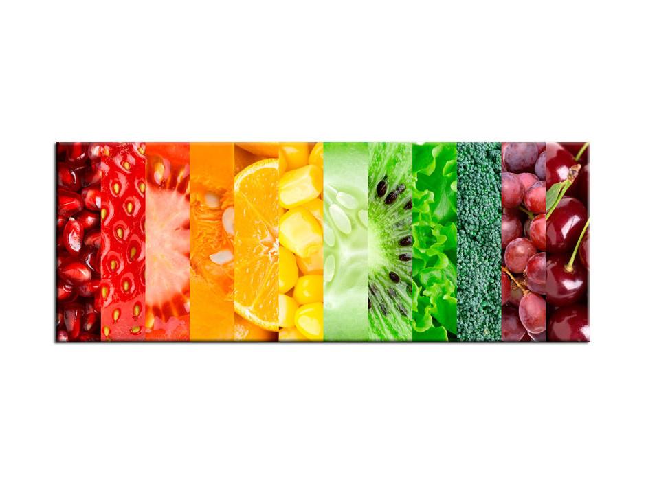 Tableau Aluminium décoratif Fruits et Légumes