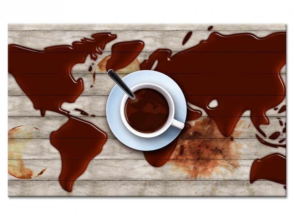 Tableau aluminium déco cuisine CAFÉ