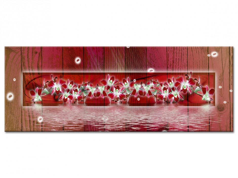 Tableau aluminium décorative ORCHIDÉES EN FRISE