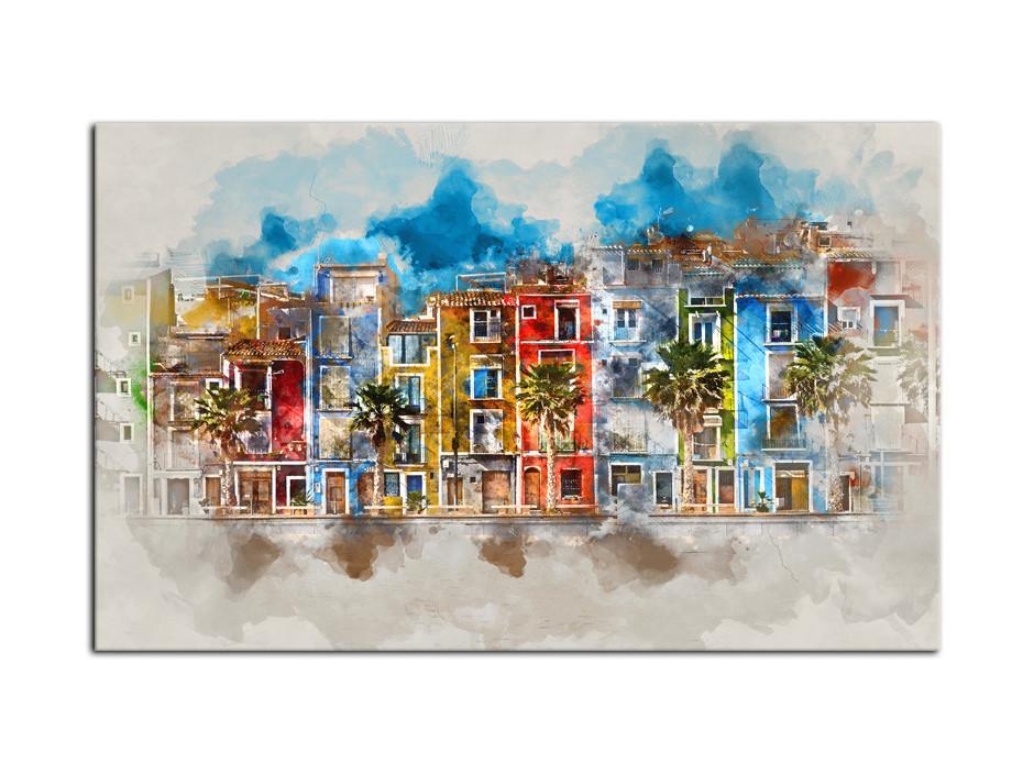 Tableau Aluminium moderne peinture de ville
