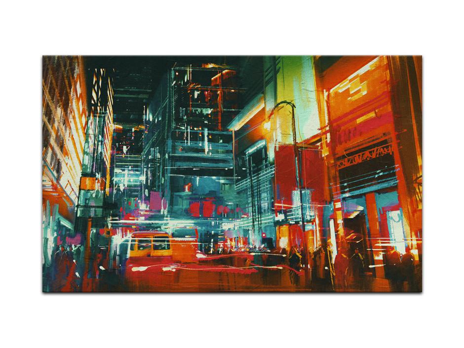 Tableau Aluminium deco moderne New York Painting