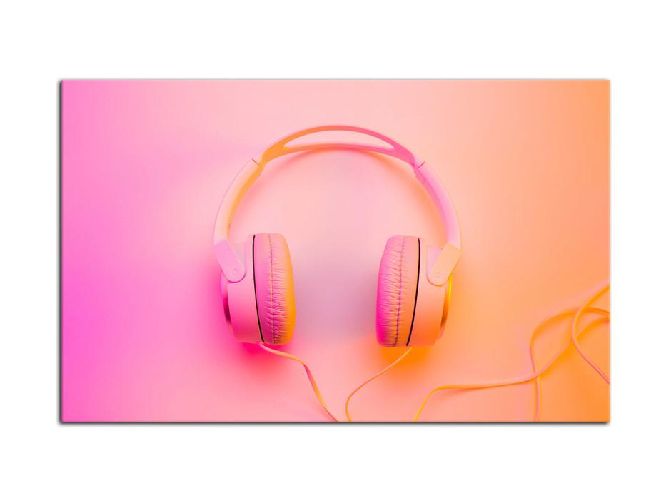 Tableau Aluminium décoratif Casque Audio