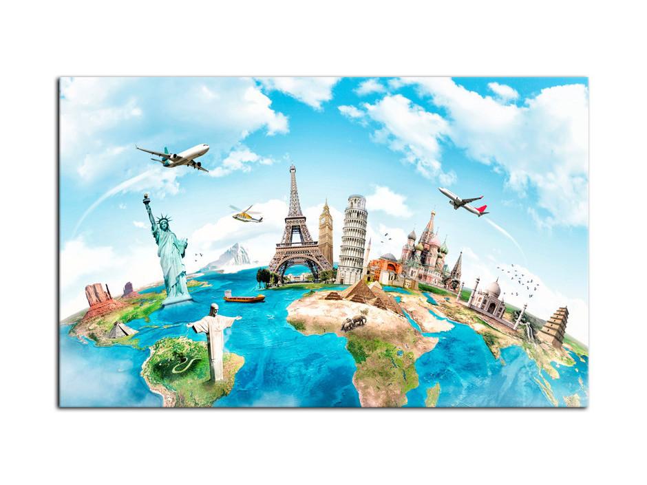 Tableau aluminium deco dessin carte du monde