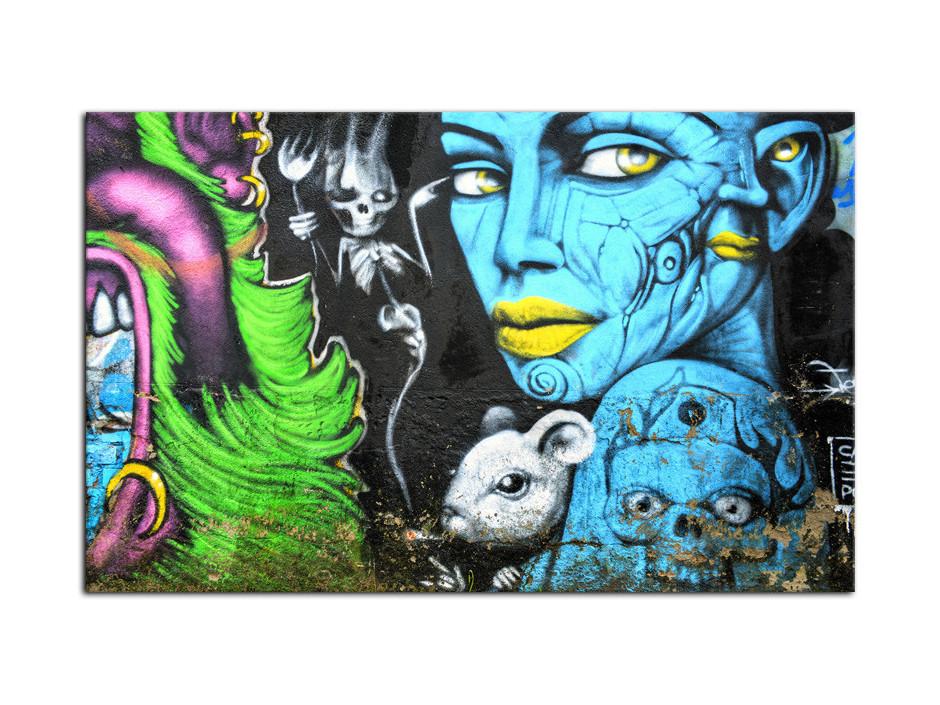 Tableau Aluminium deco moderne Graffiti