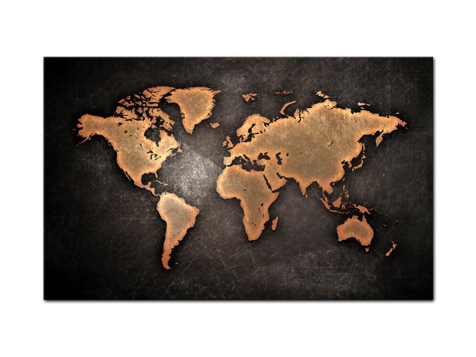 Tableau aluminium deco Word Map