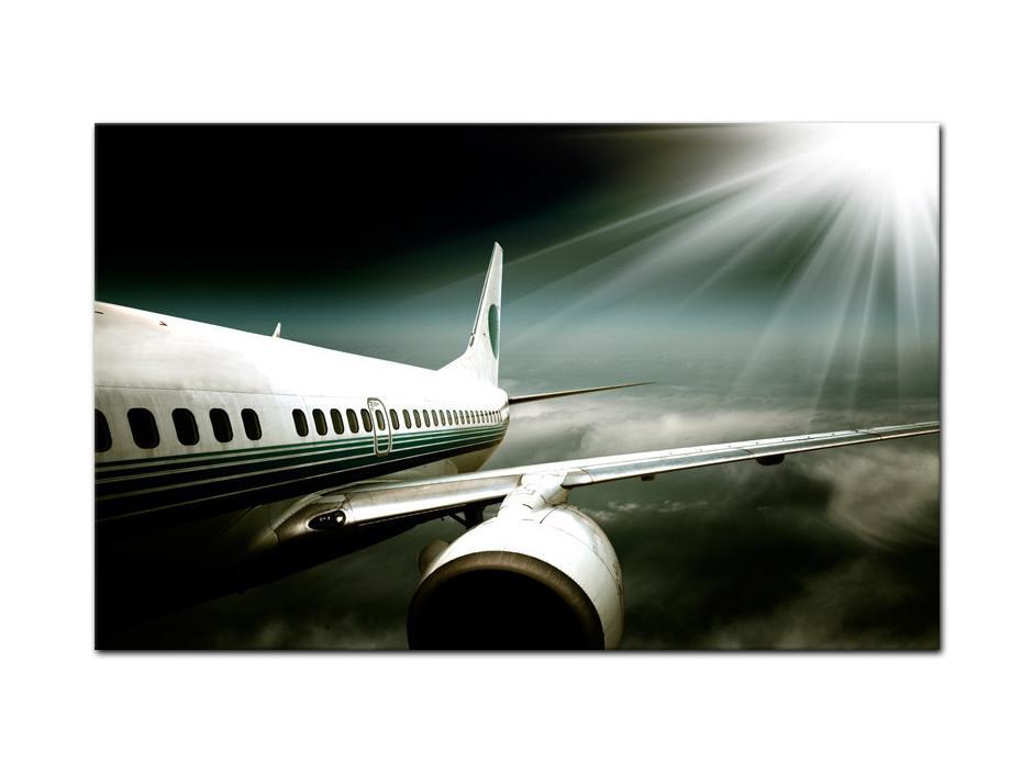 Tableau aluminium deco Avion