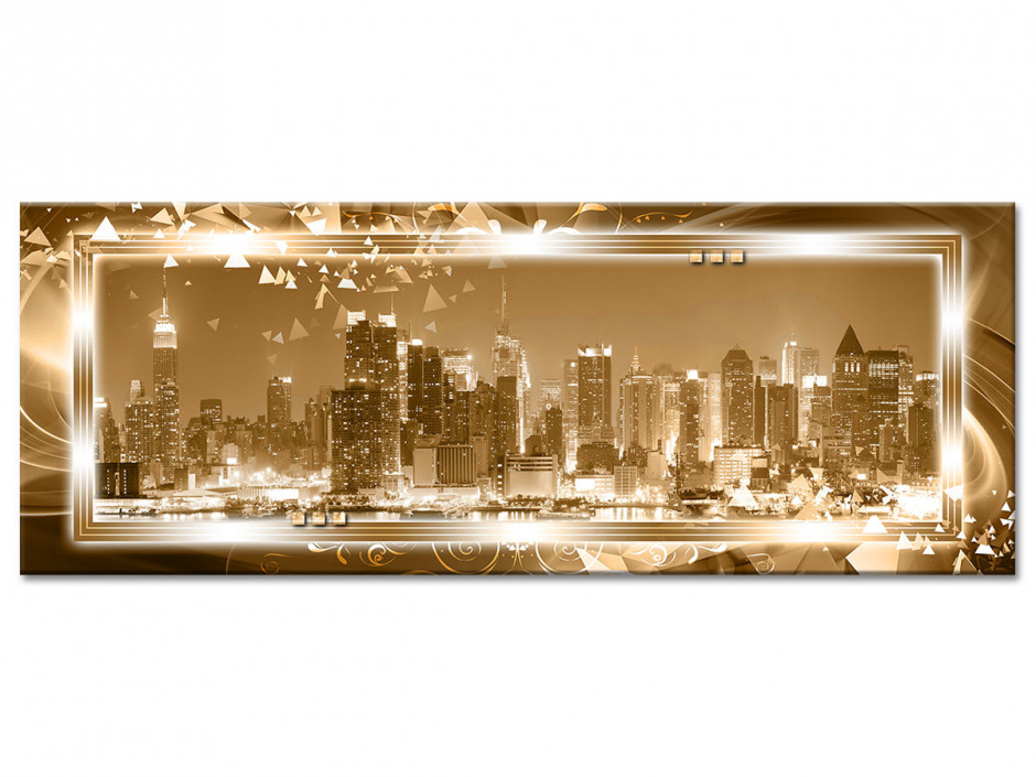 Tableau aluminium panorama MANHATTAN