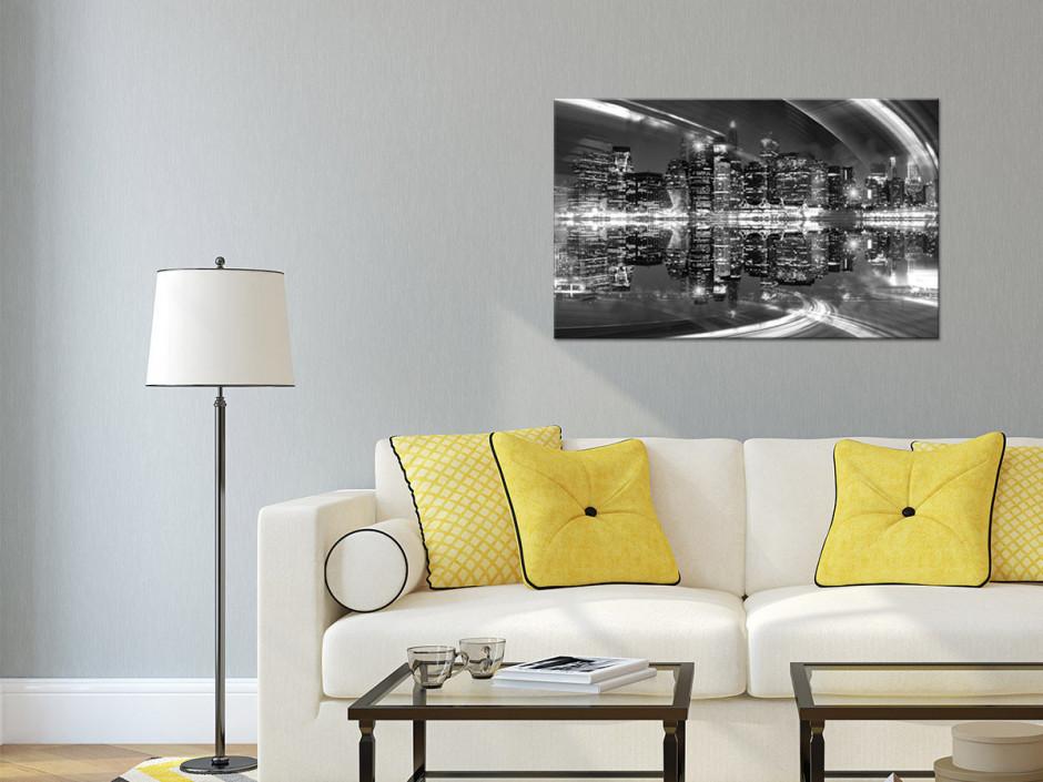 Noir et Blanc 30x50 cm Impression Photo Animaux sur Toile d/écoration Murale Cuisine DECLINA Tableau intiss/ée/L/él/éphanteau en Noir et Blanc Chambre Adulte Salon D/éco Maison