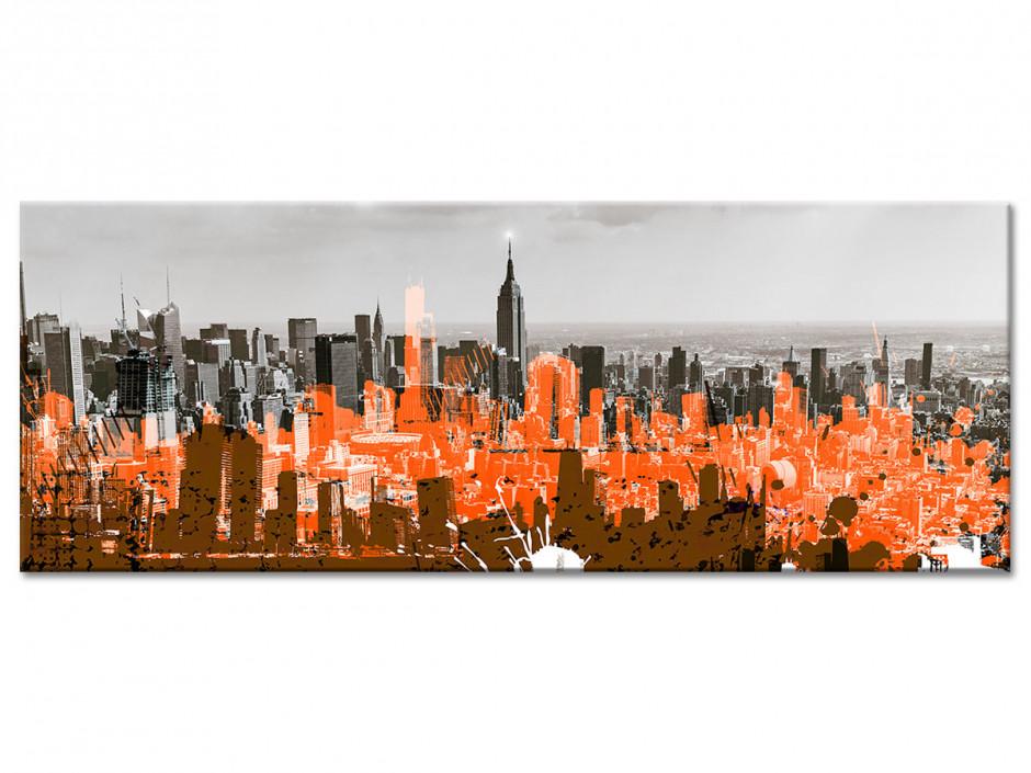 Tableau aluminium déco NEW YORK ET DESSIN
