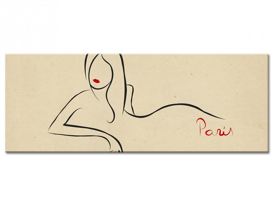 Tableau aluminium silhouette FEMME PARISIENNE