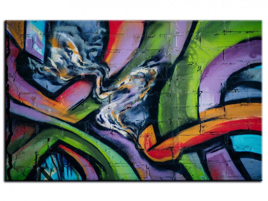 Cadre Aluminium déco abstrait Graffiti