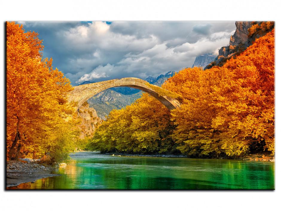 Tableau Aluminium paysage Pont de Konitsa