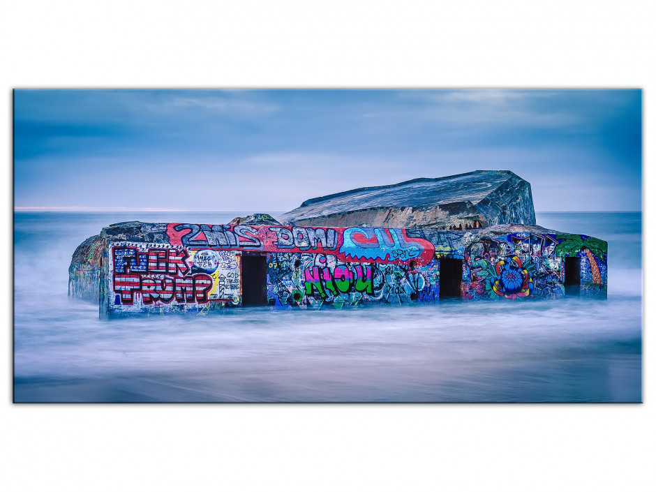 Tableau Aluminium photo BLOCKHAUS DE CAPBRETON