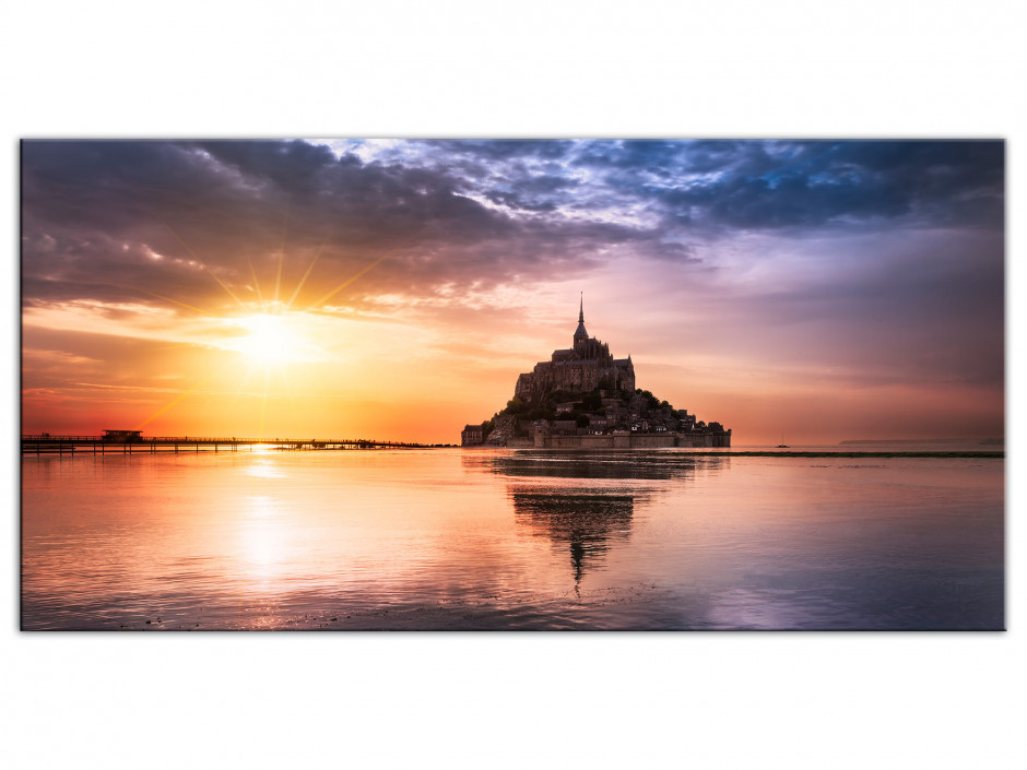 Tableau Aluminium photo deco MONT SAINT MICHEL