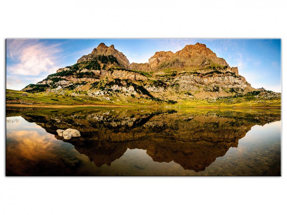 Tableau Aluminium panoramique LAC DE PIEDRAFITA