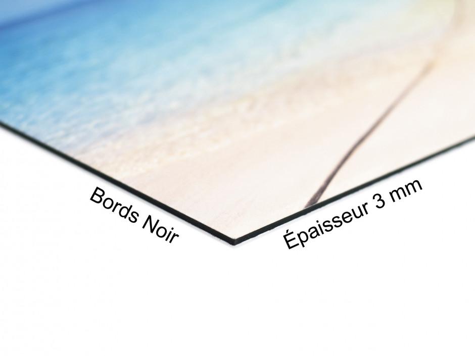 Tableau Aluminium paysage panoramique ILE DESERTE