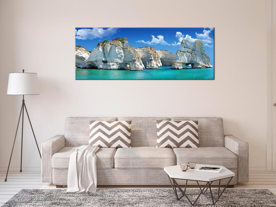 Tableau Aluminium paysage île de milos