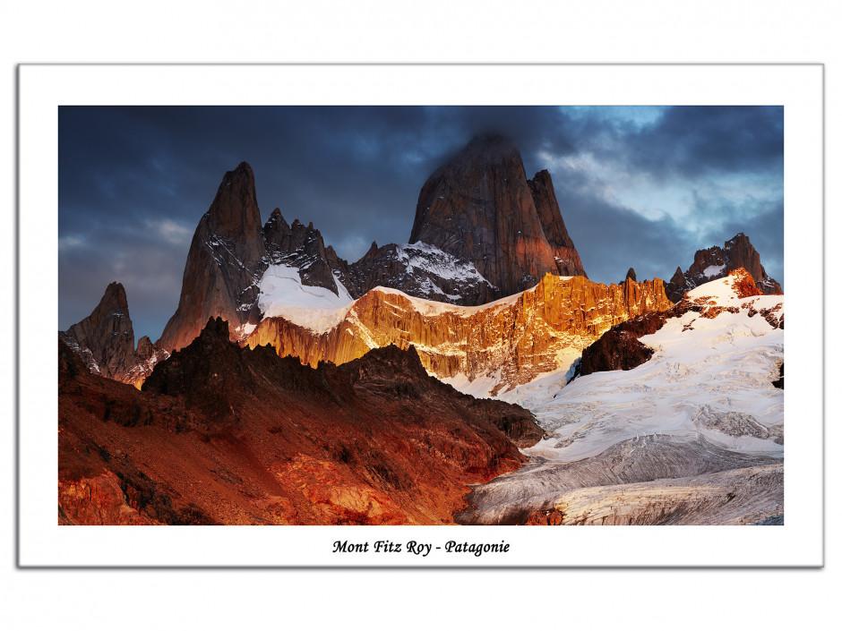Tableau Aluminium decoratif paysage de Patagonie